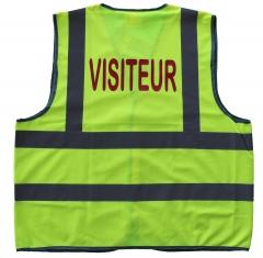 gilet jaune, gilet de sécurité, gilet fluo, gilet visiteurs, chasuble fluo